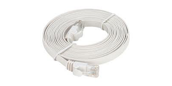 NCB-C6UWHIF1-10-D-Link-Cat6-UTP-32-AWG-Flat-Patch-Cord-10M-White-Color