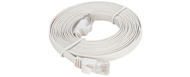 NCB-C6UWHIF1-5-D-Link-Cat6-UTP-32-AWG-Flat-Patch-Cord-5M-White-Color