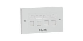D-link NFP-0WHI41 Quad Ports Faceplate
