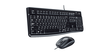 Logitech MK120 Wired Desktop En-AR Keyboard